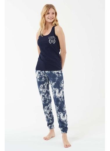 U.S. Polo Assn. Kadın Atlet Pijama Takım Lacivert